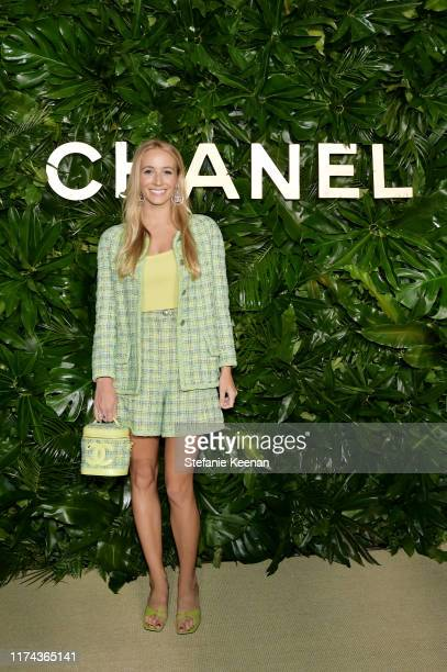 Harley VieraNewtonwearing CHANEL attends Chanel Dinner Celebrating Gabrielle Chanel Essence With Margot Robbie on September 12 2019 in Los Angeles...