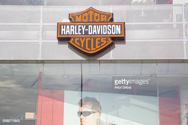 HarleyDavidson distributor store of motorbikes with trademark