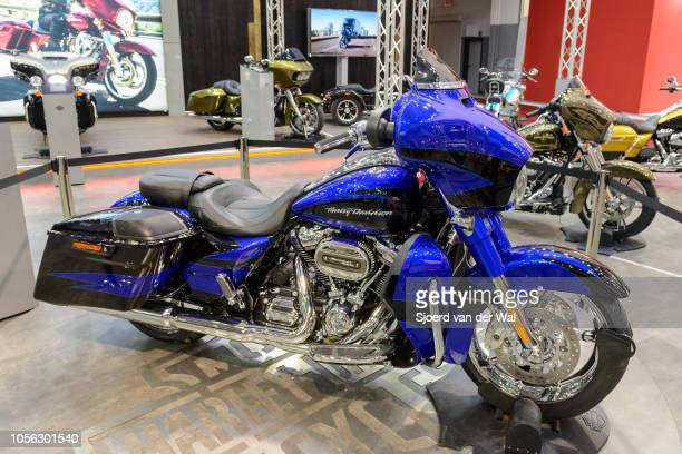 HarleyDavidson motor cycle on display at Brussels Expo on January 13 2017 in Brussels Belgium The HarleyDavidson Motor Company was founded in 1903...