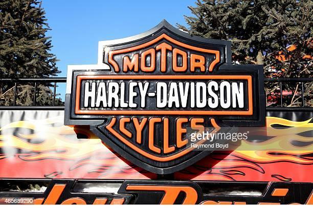 HarleyDavidson Motorcycles signage on February 28 2015 in Niagara Falls Ontario Canada