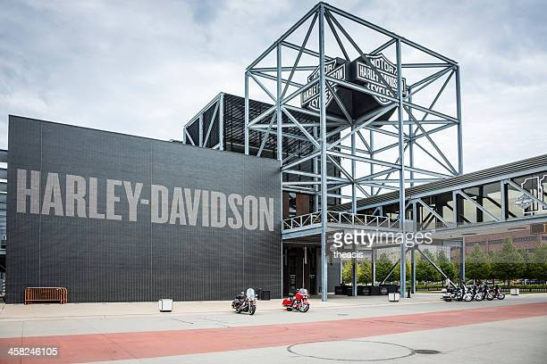 harley-davidson museum, milwaukee - milwaukee stock pictures, royalty-free photos & images