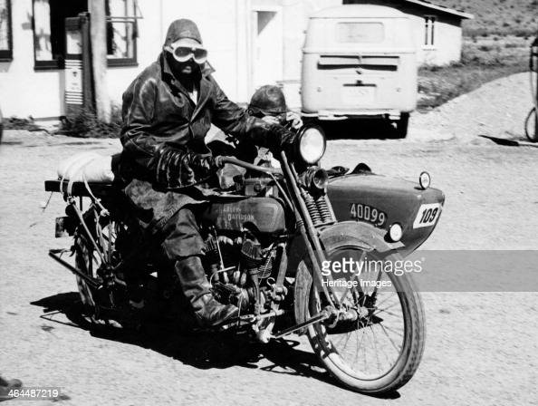 William Harley And Arthur Davidson: A Harley-Davidson With A Sidecar, 1923. The Driver And