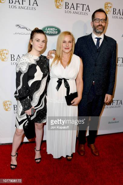 Harlow Jane Patricia Arquette and Eric White attend The BAFTA Los Angeles Tea Party at Four Seasons Hotel Los Angeles at Beverly Hills on January 5...