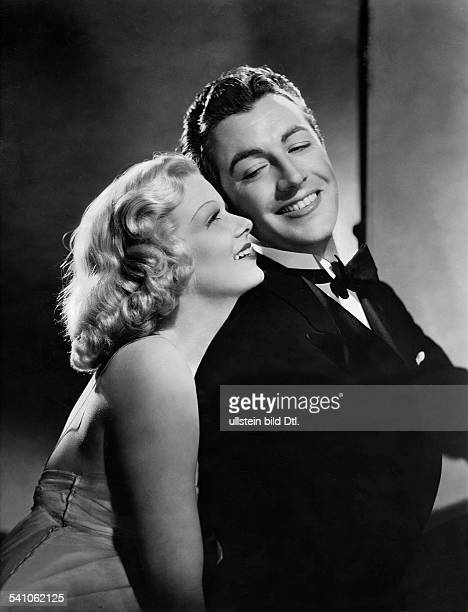 Harlow Jean * Schauspielerin USA mit Robert Taylor in dem Film 'Der Mann mit dem Kuckuck' 1937