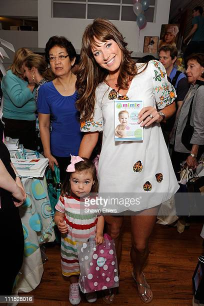 Harlow Notar and Jane Notar pose with Mimic products at The Boom Boom Room Celebrating Upfronts Media Preview at Home Studios on May 14 2008 in New...
