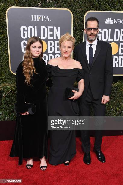 Harlow Olivia Calliope Jane Patricia Arquette and Eric White attend the 76th Annual Golden Globe Awards at The Beverly Hilton Hotel on January 6 2019...