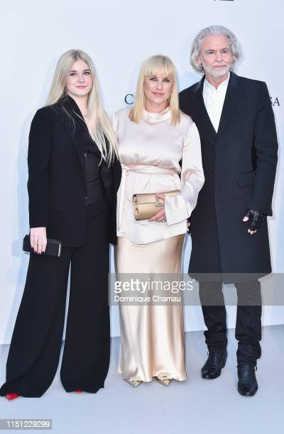 Harlow Olivia Calliope Jane Patricia Arquette and Hermann Bühlbecker attend the amfAR Cannes Gala 2019 at Hotel du CapEdenRoc on May 23 2019 in Cap...