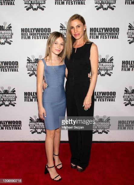Harlow Rocca and Stephanie Rocca arrive at A Dark Foe Film Premiere on February 15 2020 in Los Angeles California