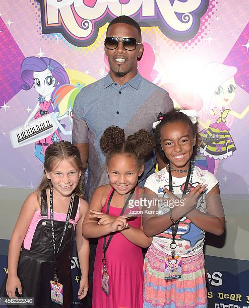 Harlow Rocca Jamie Foxx Annalise Bishop and Gabby Brown attend the premiere of My Little Pony Equestria Girls Rainbow Rocks at TCL Chinese Theatre on...