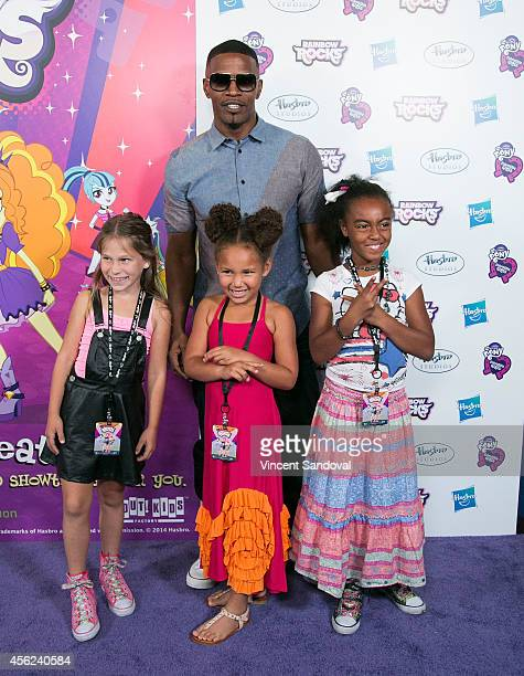 Harlow Rocca Jamie Foxx Annalise Bishop and Gabby Brown attend the Los Angeles special screening of 'My Little Pony Equestria Girls Rainbow Rocks' at...