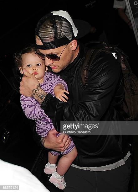 Harlow Winter Kate Madden and father Joel Madden are seen on May 4 2009 in Miami Beach Florida