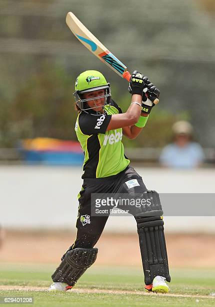 Harmanpreet Kaur of the Thunder bats during the Women's Big Bash League match between the Melbourne Stars and the Sydney Thunder at Lavington Sports...