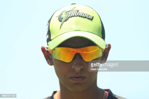 Harmanpreet Kaur of the Thunder looks on during the Women's Big Bash League match between the Melbourne Stars and the Sydney Thunder at Horwall Oval...