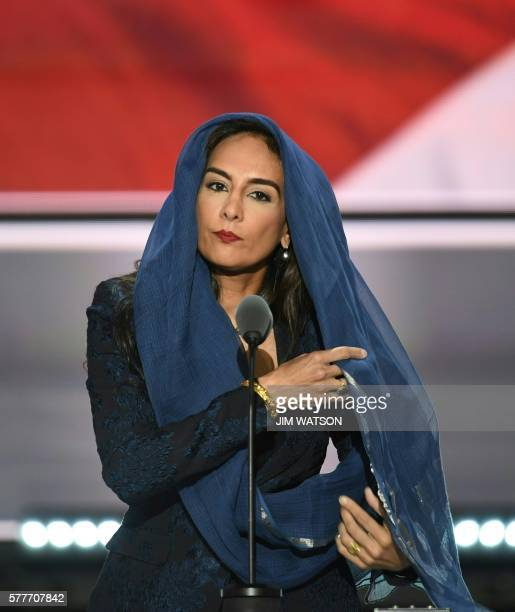 Harmeet Dhillon Vice Chair of the CA Republican Party speaks onstage during the second day of the Republican National Convention on July 19 2016 at...