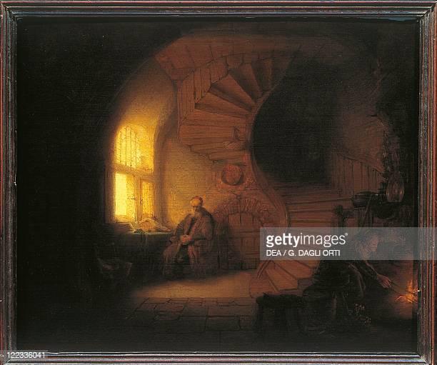 Harmenszoon van Rijn Rembrandt Philosopher in Meditation