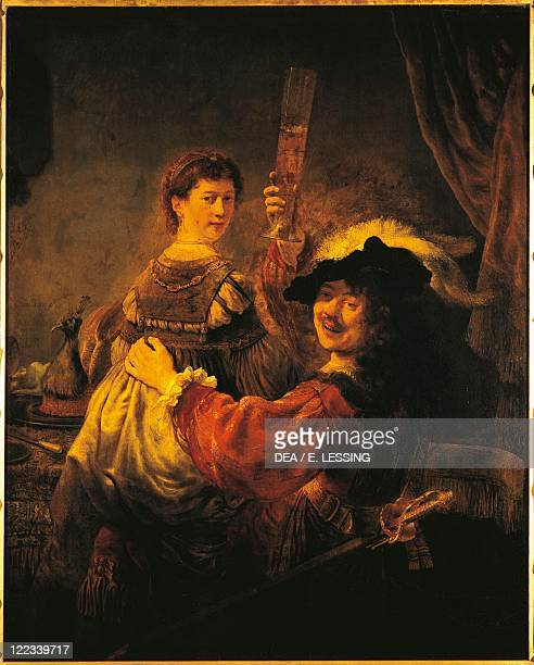 Harmenszoon van Rijn Rembrandt SelfPortrait with Saskia in the Parable of the Prodigal Son