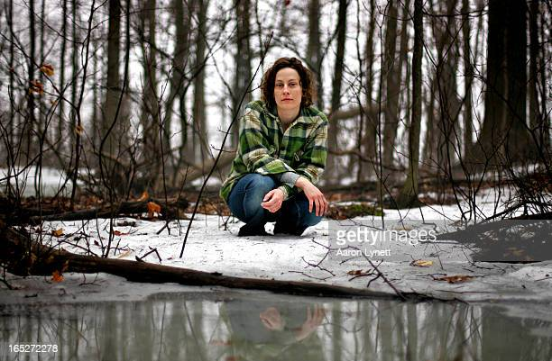 Canadian musician Sarah Harmer near a wetland where the Grindstone and Bronte headwaters meet, near the top of Mount Nemo in Burlington. The vernal...