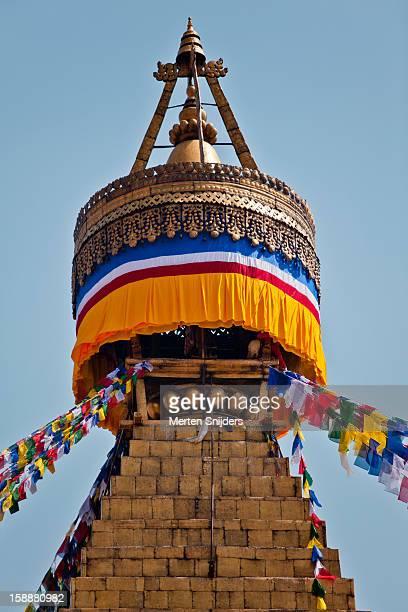 harmika top part of boudhanath stupa - merten snijders photos et images de collection