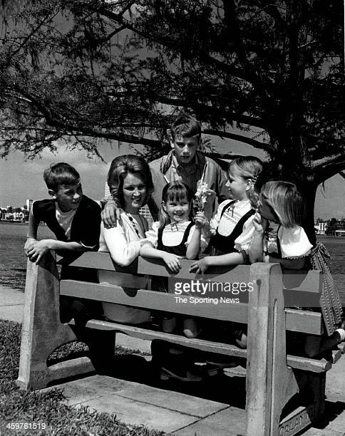 Harmon Killebrew family on March 22 1970 at Tinker Field in Orlando Florida From left they are Kenneth 11 Mrs Elaine Killebrew Erin 4 Shawn 8 Kathy 6...