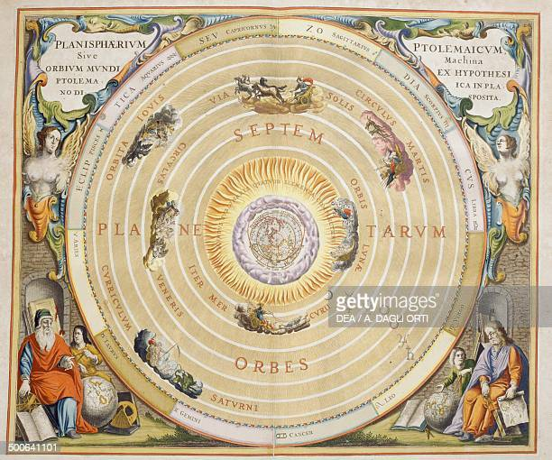 Harmonia Macrocosmica Ptolemaic theory of planetary motion engraving by Andreas Cellarius Amsterdam The Netherlands Gorizia Fondazione Palazzo...