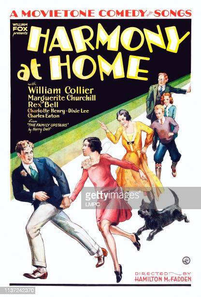 Harmony At Home poster US poster art from left Rex Bell Marguerite Churchill Elizabeth Patterson Charles Eaton Dixie Lee William Collier Sr 1930