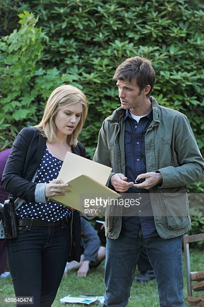 HAVEN 'Harmony' Episode 1004 Pictured Emily Rose as Audrey Parker Lucas Bryant as Nathan Wournos