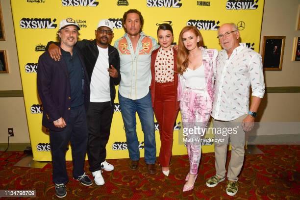 Harmony Korine Martin Lawrence Matthew McConaughey Stefania LaVie Owen Isla Fisher and Jimmy Buffett attend the The Beach Bum Premiere 2019 SXSW...