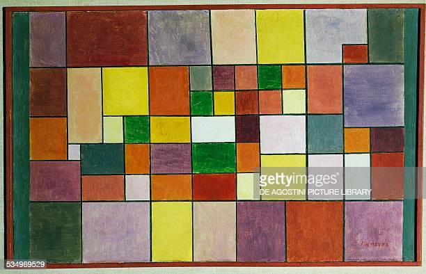Harmony of the Nordic Flora by Paul Klee oil on plywood 41x66 cm