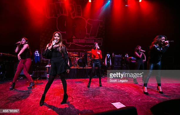 Harmony performs at the 2013AMP 987 Kringle Jingle at The Fillmore on December 15 2013 in Detroit Michigan