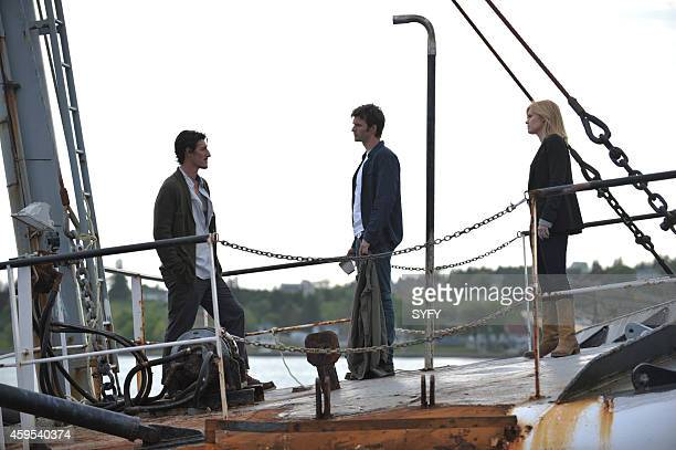 HAVEN 'Harmony' Pictured Eric Balfour as Duke Crocker Lucas Bryant as Nathan Wournos Emily Rose as Audrey Parker