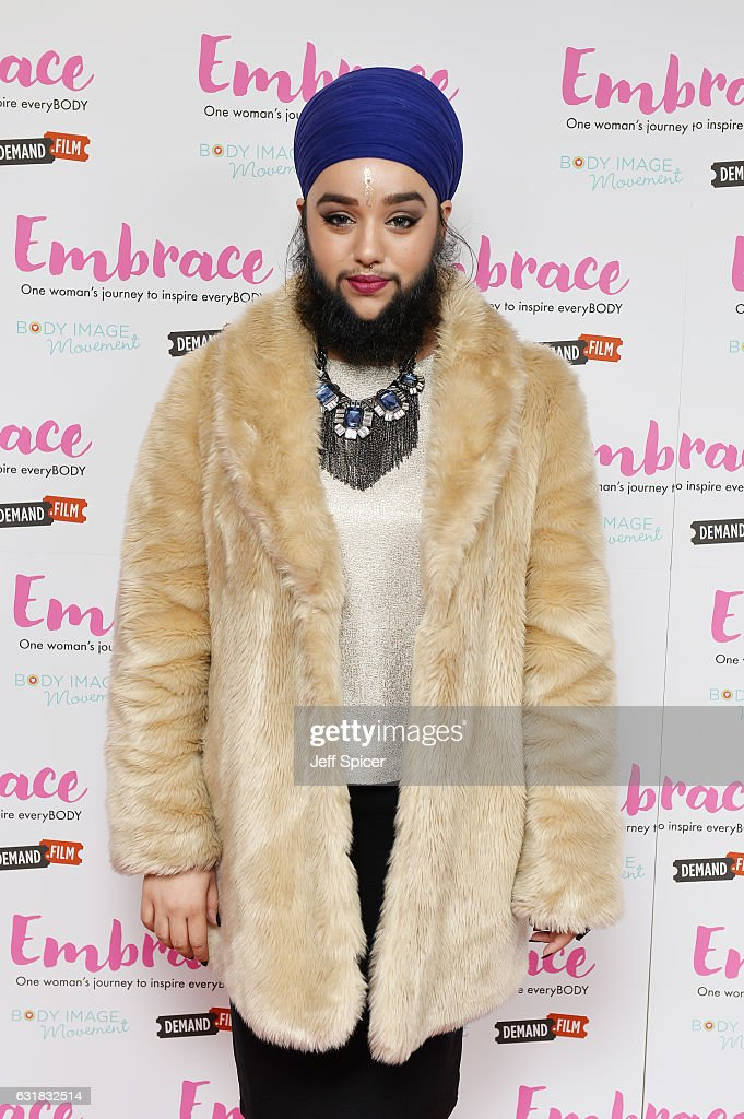 Harnaam Kaur arrives for the UK premiere of 'Embrace' at Odeon Covent Garden on January 16, 2017 in London, England.
