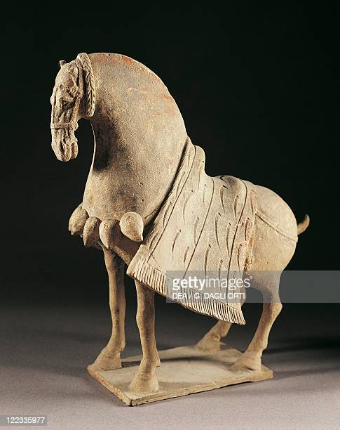 Harnessed horse northern wei dynasty terracotta