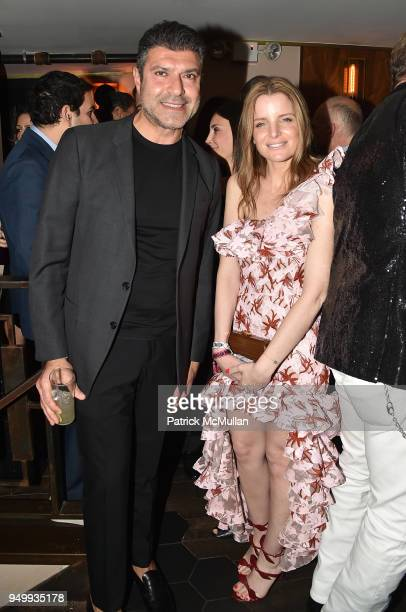 Haro Keledjian and Mariel Saffra attend Billy Macklowe's 50th Birthday Spectacular at Chinese Tuxedo on April 21 2018 in New York City