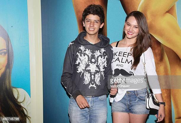Harold Azuara and Ale Muller attend the 'Volando Bajo' Mexico City premiere at Cinepolis Diana on June 16 2014 in Mexico City Mexico