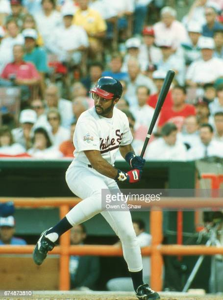 ANAHEIM CA Harold Baines of the Chicago White Sox circa 1989 bats in the 1989 MLB All Star game at the Big A in Anaheim California