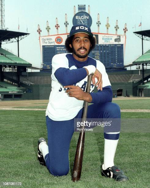 Harold Baines of the Chicago White Sox looks on prior to an MLB game at Comiskey Park in Chicago Illinois Baines played for the White Sox from...