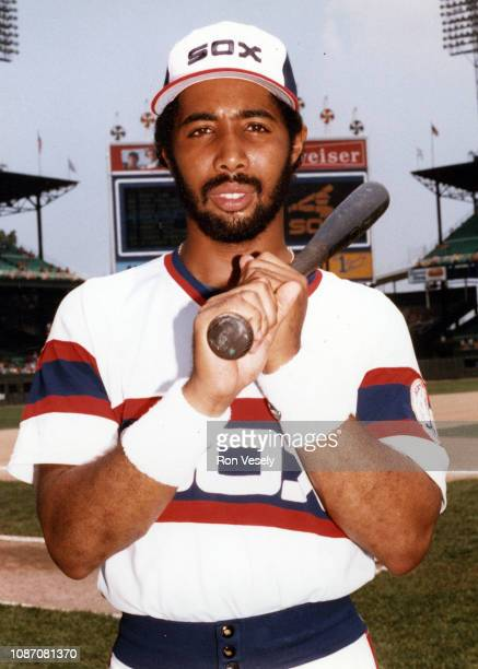 Harold Baines of the Chicago White Sox poses for a photo prior to an MLB game at Comiskey Park in Chicago Illinois Baines played for the White Sox...