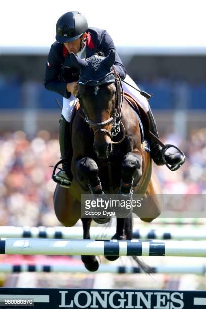 Harold BOISSET riding VAKHENATON during the Derby Region des Pays de La Loire on May 19 2018 in La Baule France