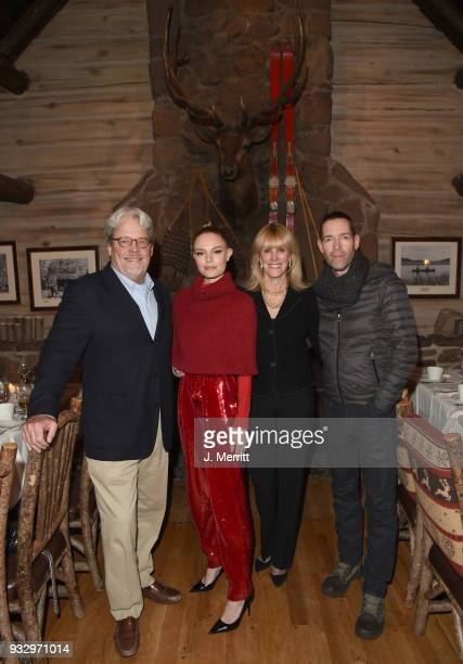 Harold Bosworth actress Kate Bosworth Patricia Bosworth and director Michael Polish attend the 2018 Sun Valley Film Festival Pioneer Award Party for...