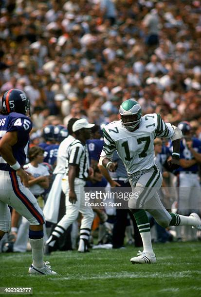 Harold Carmichael of the Philadelphia Eagles in action against the New York Giants during an NFL football game December 19 1971 at Yankee Stadium in...