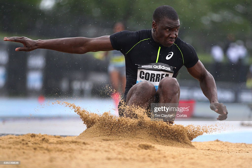 Harold Correa, France, in action during the Men's Triple Jump event at the  Diamond