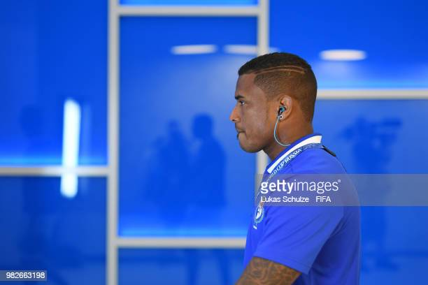 Harold Cummings of Panama arrives at the stadium prior to the 2018 FIFA World Cup Russia group G match between England and Panama at Nizhny Novgorod...