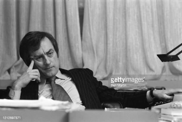 Harold Evans, Editor of the London Sunday Times, 1975.