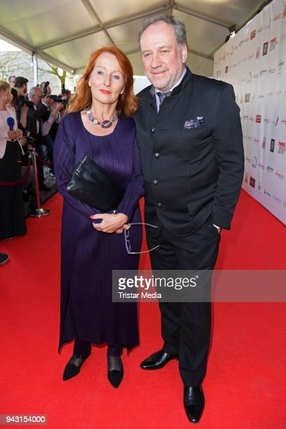 Harold Faltermeyer and his girlfriend Birgit Wolff attend the 'Goldene Sonne 2018' Award by SonnenklarTV on April 7 2018 in Kalkar Germany