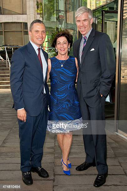 Harold Ford Jr Beth Wilkinson and David Gregory attend the American Songbook Gala 2015 at Alice Tully Hall at Lincoln Center on May 26 2015 in New...