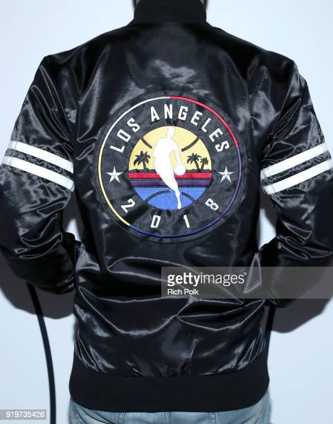 Harold Hadnott fashion detail attends GOAT and James Harden Celebrate NBA AllStar Weekend 2018 at Poppy on February 17 2018 in Los Angeles California