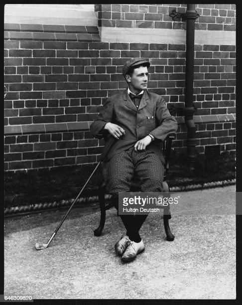 Harold Hilton Sitting with Golf Club