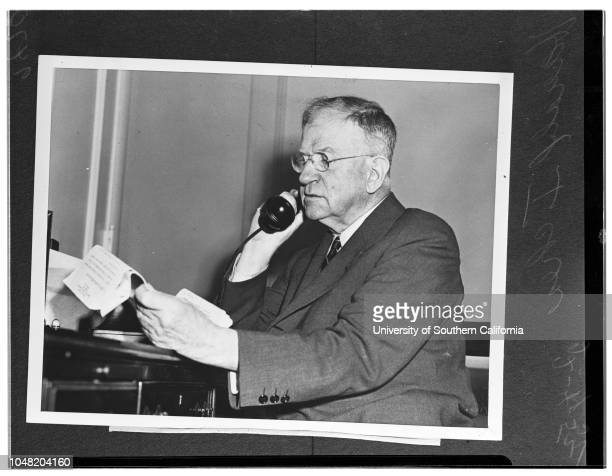 Harold Ickes made for KNBH 'TV', 04 February 1952. Harold Ickes made for KNBH 'TV'..