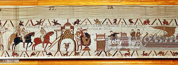 Harold II last AngloSaxon king of England 1066 on visit to Normandy 1064 swearing oath of loyalty to Duke William of Normandy 10271087 king of...