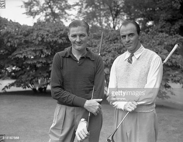 "Harold ""Jug"" McSpaden, of Winchester, Massachusetts, who defeated Paul Runyan with Sam Snead, of Shawnee, Pennsylvania, who defeated Gene Sarazen, at..."